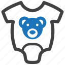 baby, bear, clothing, onesie, romper icon