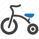 bike, kid, toddler, toy, tricycle icon