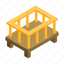 baby, bed, bedtime, isometric, mattress, night, small icon