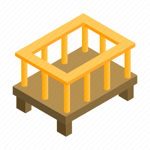 Baby, bed, bedtime, isometric, mattress, night, small icon - Download on Iconfinder