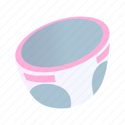 baby, clean, diaper, disposable, isometric, nappy, newborn icon