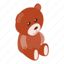 baby, bear, cute, isometric, small, teddy, toy icon