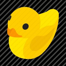 bath, bird, duck, fun, isometric, rubber, toy icon