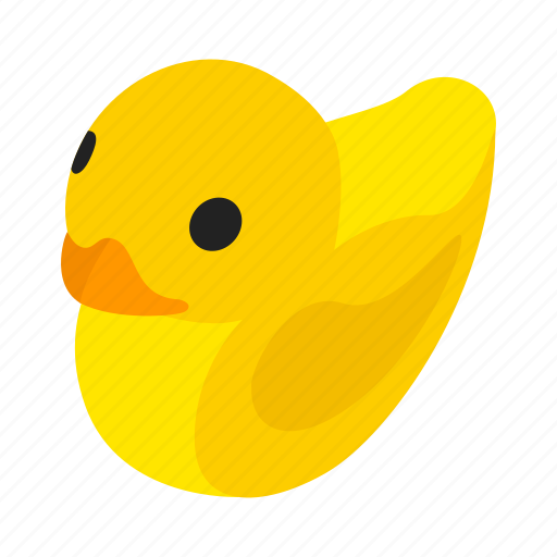 bath, bird, duck, fun, isometric, rubber, toy icon