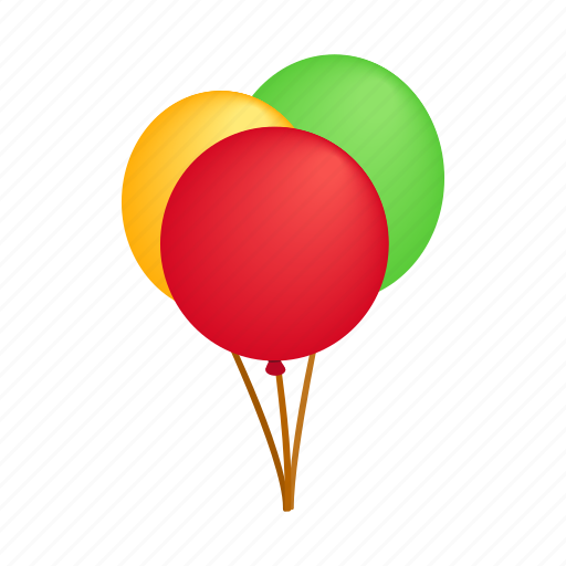 Balloons, bubbles, decoration, fly, image, isometric, shape icon - Download on Iconfinder
