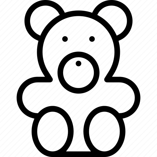 baby, bear, child, children, teddy icon