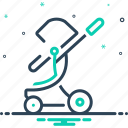 buggy, carriage, cradle, pushchair, straggler, stroller, toddler rocker icon