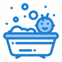 baby, bath, bathing, shower icon