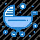 baby, kids, push, stroller, trolley icon