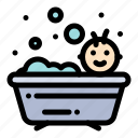 baby, bath, bathing, shower icon