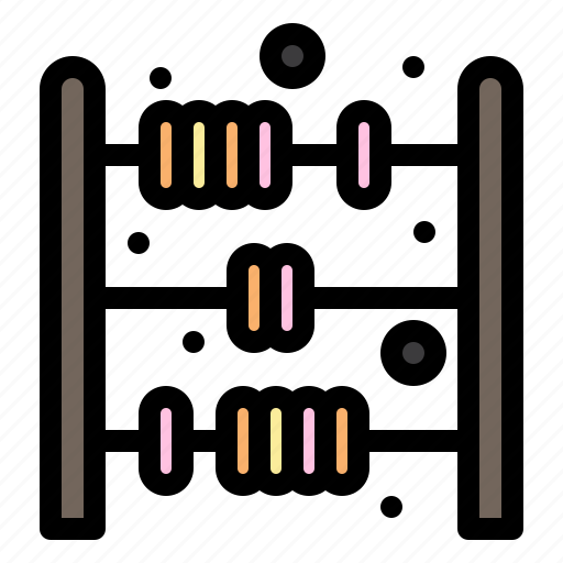 abacus, baby, count, toy icon