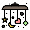 baby, mobile, sleep icon