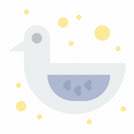 baby, duck, shower, toy icon
