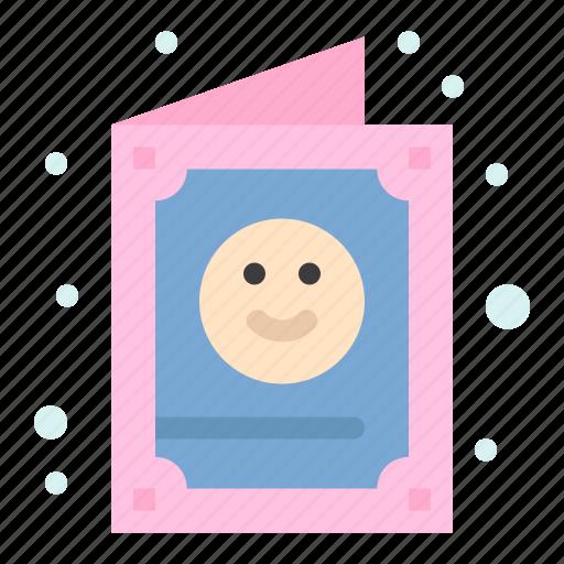 card, child, cute, invitation, kid icon