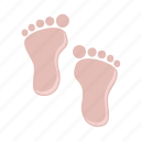 baby, child, foot, girl, kids icon