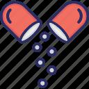 antibiotics, capsules, medicines, pills, supplements icon icon