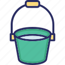 basket, bucket, liquid container, water container icon
