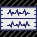 cardiology, ecg, ecg machine, ecg monitor icon