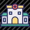clinic, dispensary, hospital, infirmary icon