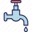 faucet, water droplet, water sprinkler, water supply icon