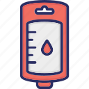 blood bag, blood transfusion, drip, infusion drip icon