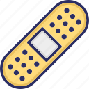band aid, bandage, injury band, medical plaster icon