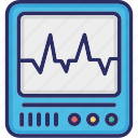 cardiogram, cardiology, ecg, ecg machine icon