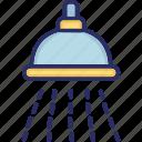 bathing sprinkler, drizzler, rainstorm, shower head, water sprinkler icon