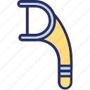 dental care, dental floss, flossing, teeth cleaning icon