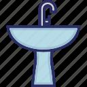 basin, sink, sinkage, wash basin, washbowl icon