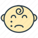 baby, cry, sad, care, face icon