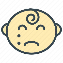 baby, care, cry, face, sad icon