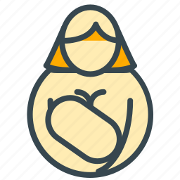 baby, breast, care, feed icon