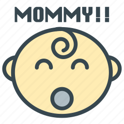 baby, care, first, mommy, word icon