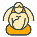 baby, breast, care, feed, meditation icon