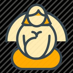 baby, breast, care, feed, meditation icon