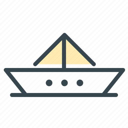 baby, boat, care, child, fold, paper, toy icon