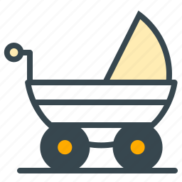 baby, care, carrier, stroller, walk icon
