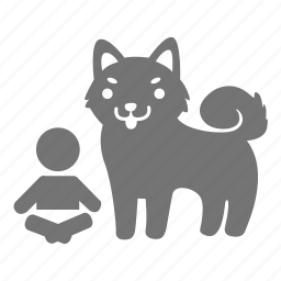 baby, body guard, dog, guard, infant, kid, shiba icon