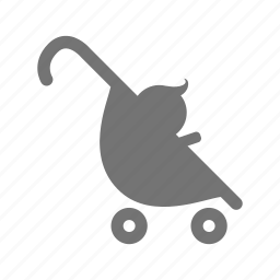 baby, carriage, infant, priority seat, push chair, stroller, wagon icon