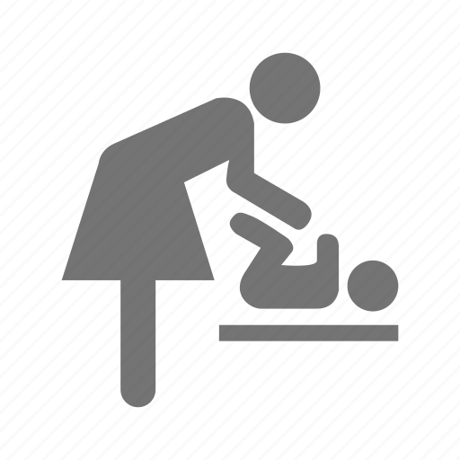 baby, care, change, diaper, mom, napkin, nappy icon