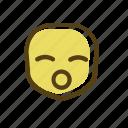 emoji, wow icon