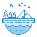 adventure, camp, outdoor, summer, tent icon