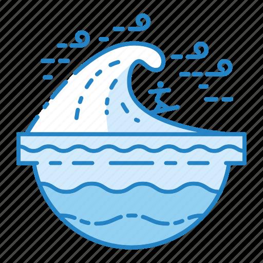 Ocean, sea, summer, surfing, wave icon - Download on Iconfinder