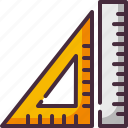 ruler, school materials icon