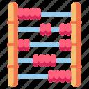 abacus, economy, finance, math icon