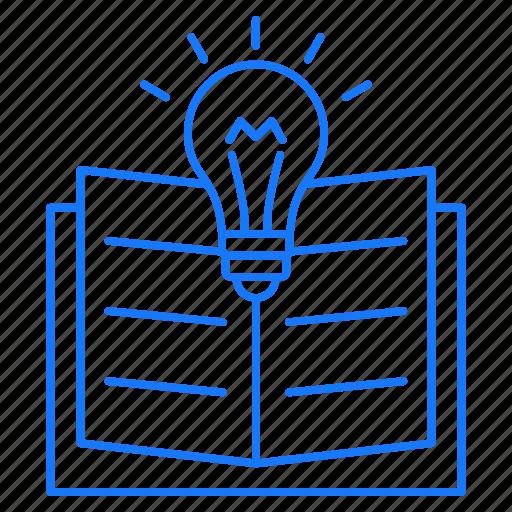 book, bulb, education, idea, studies icon