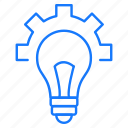 bulb, education, gear, idea, studies icon