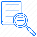 book, education, search, studies icon