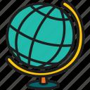 education, globe model, global, map, globe, earth, world